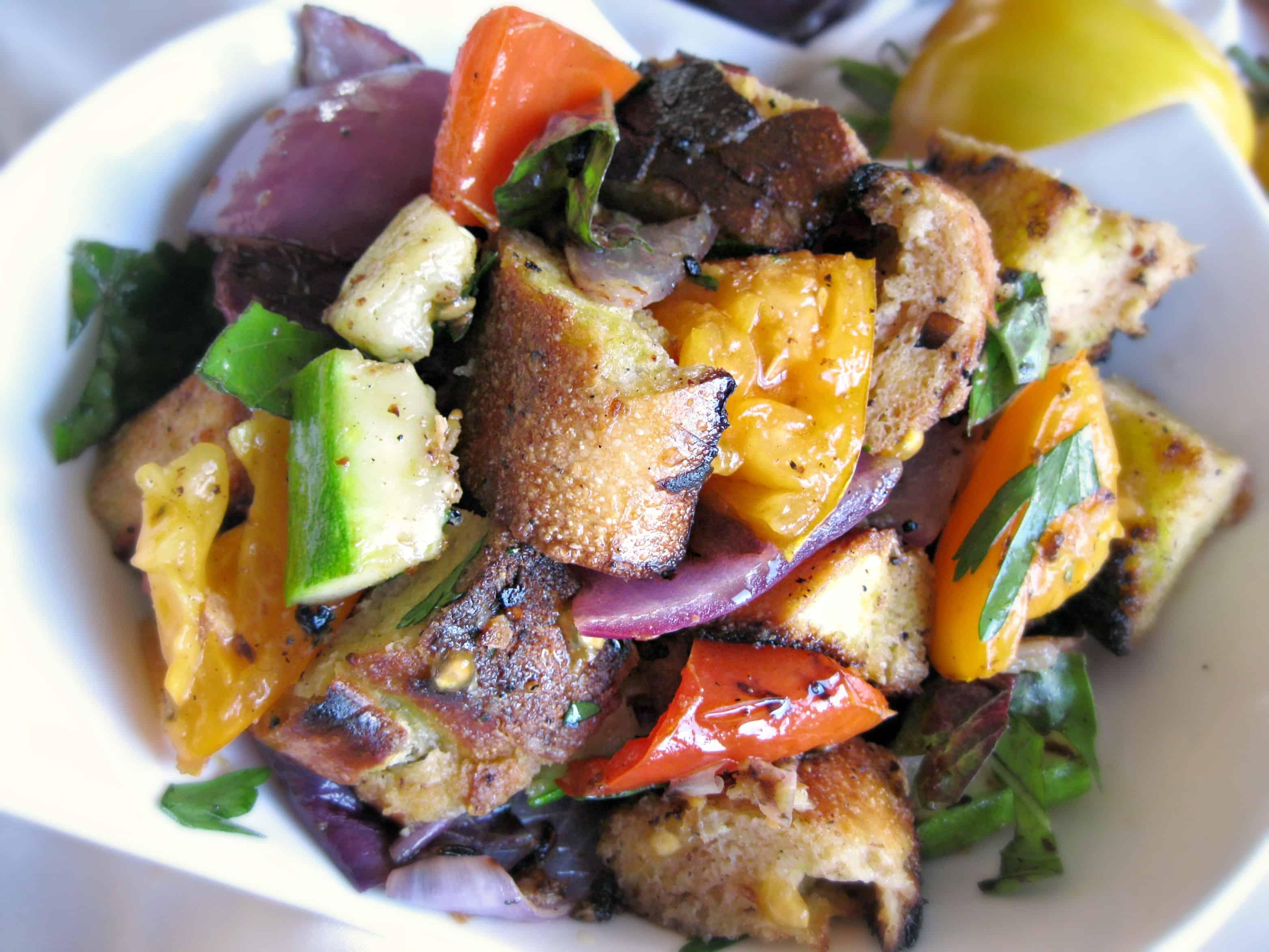 Grilled Vegetable Panzanella Recipes — Dishmaps