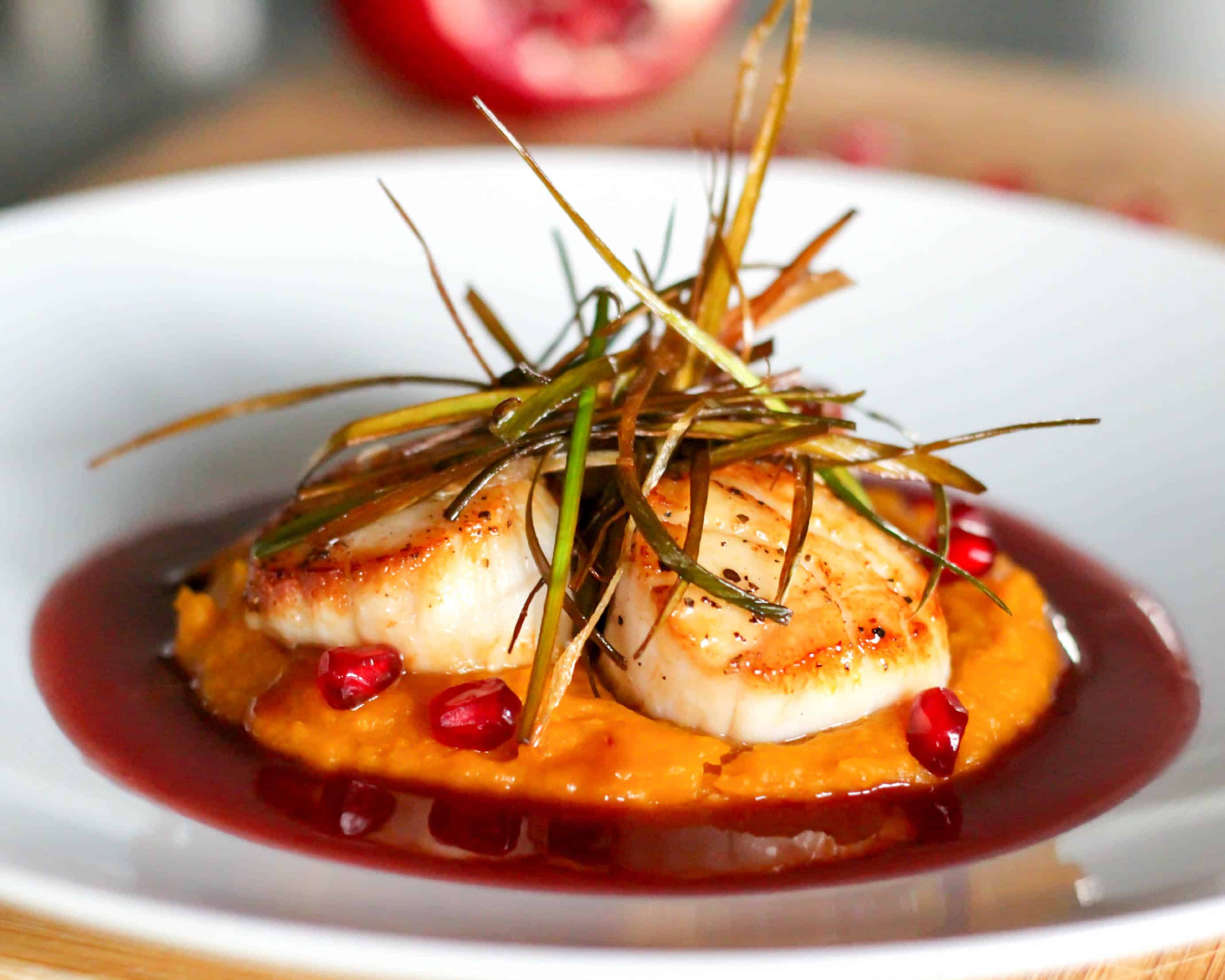 scallops with pomegranate beurre blanc - Bur Blanc Recipe