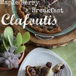 Maple Berry Breakfast Clafoutis