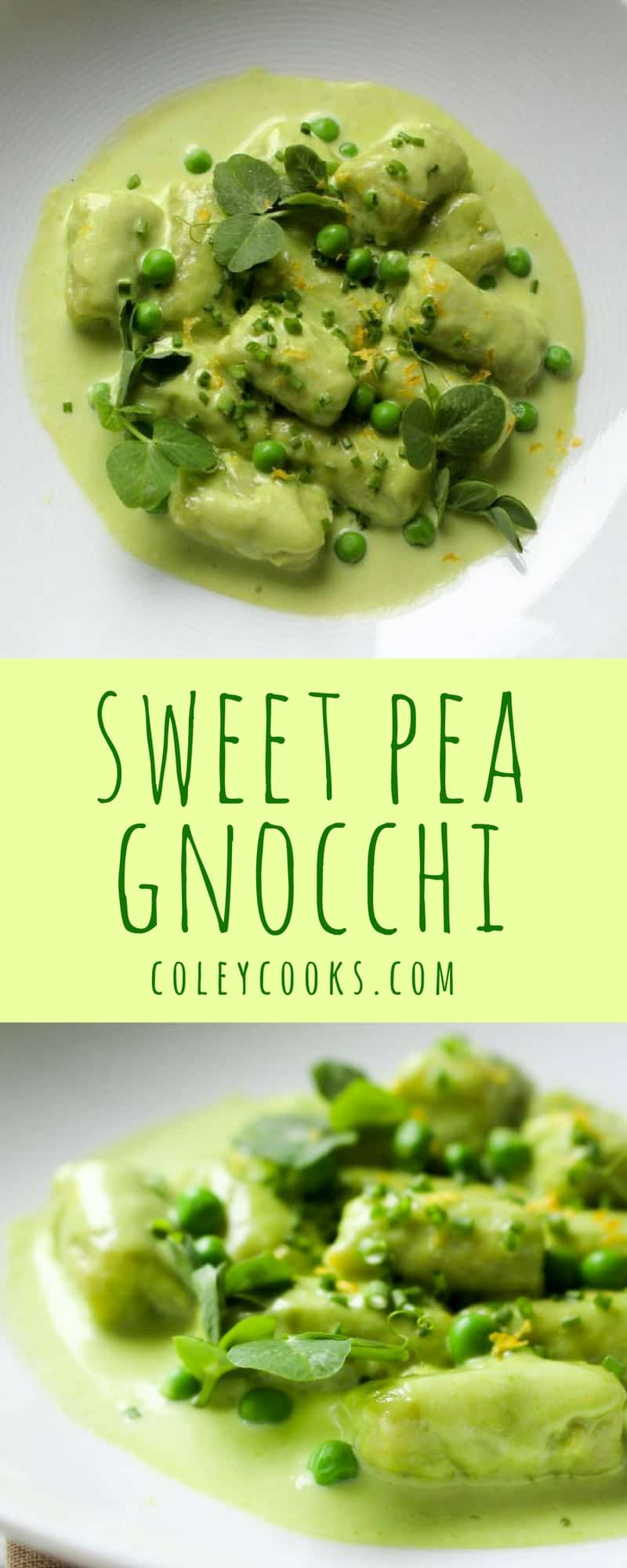 SWEET PEA GNOCCHI with Tarragon Pea Cream   A Beautiful Spring Recipe   ColeyCooks.com