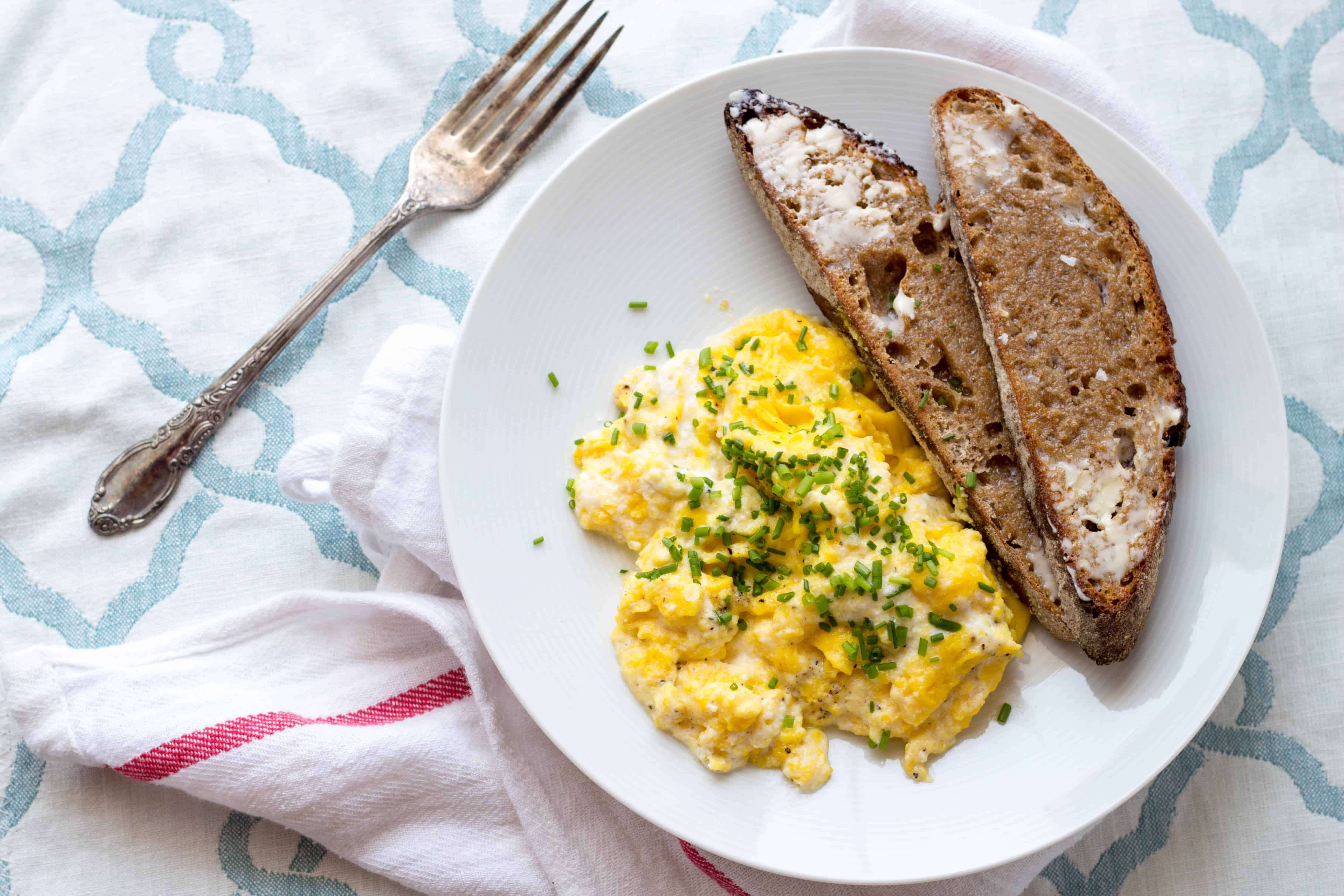 Slow Scrambled Eggs with Ricotta and Chives (Video!) | Coley Cooks...