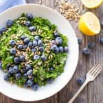Summer Kale + Blueberry Salad (Video!)