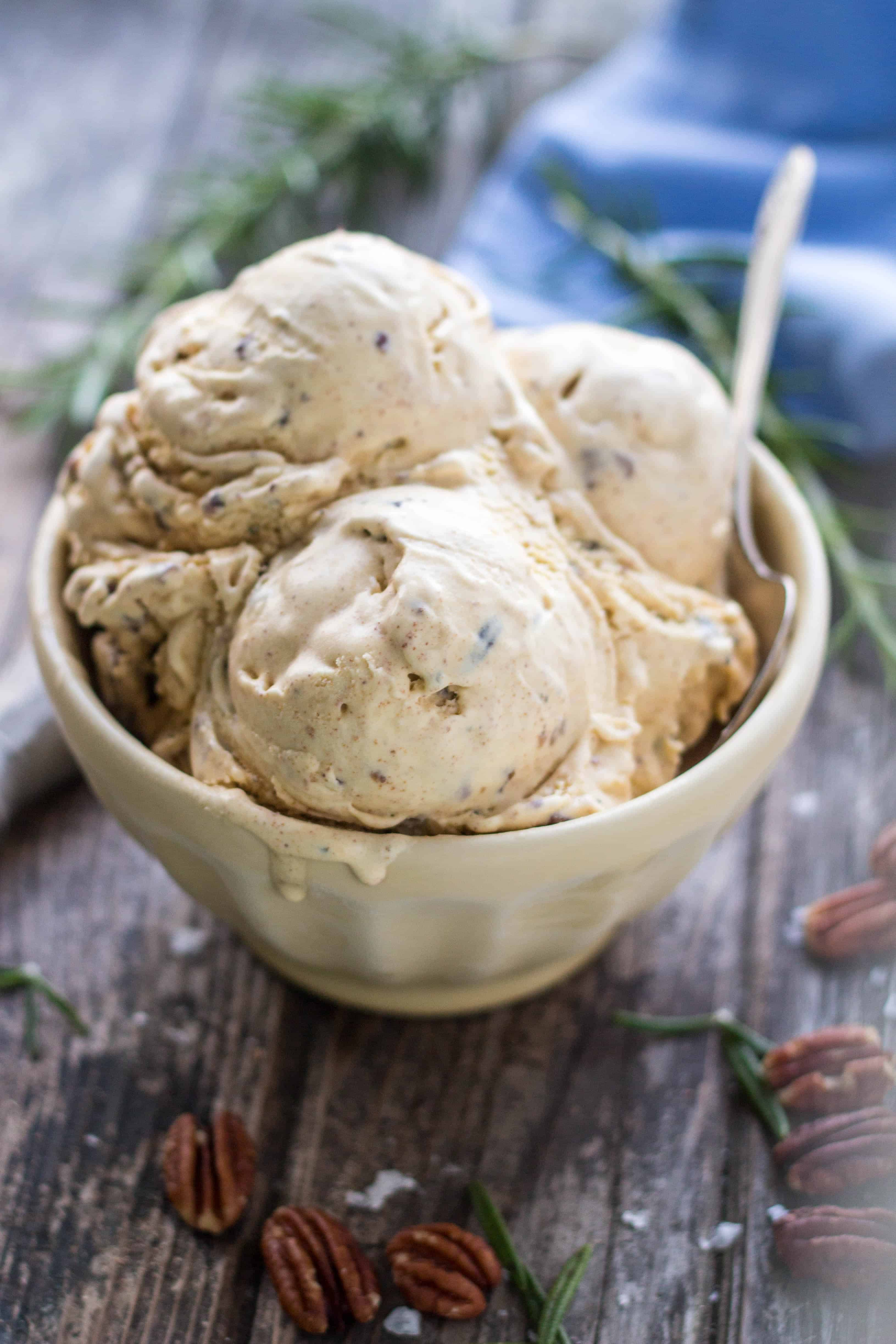 Rosemary Brown Butter Pecan Ice Cream | Coley Cooks...