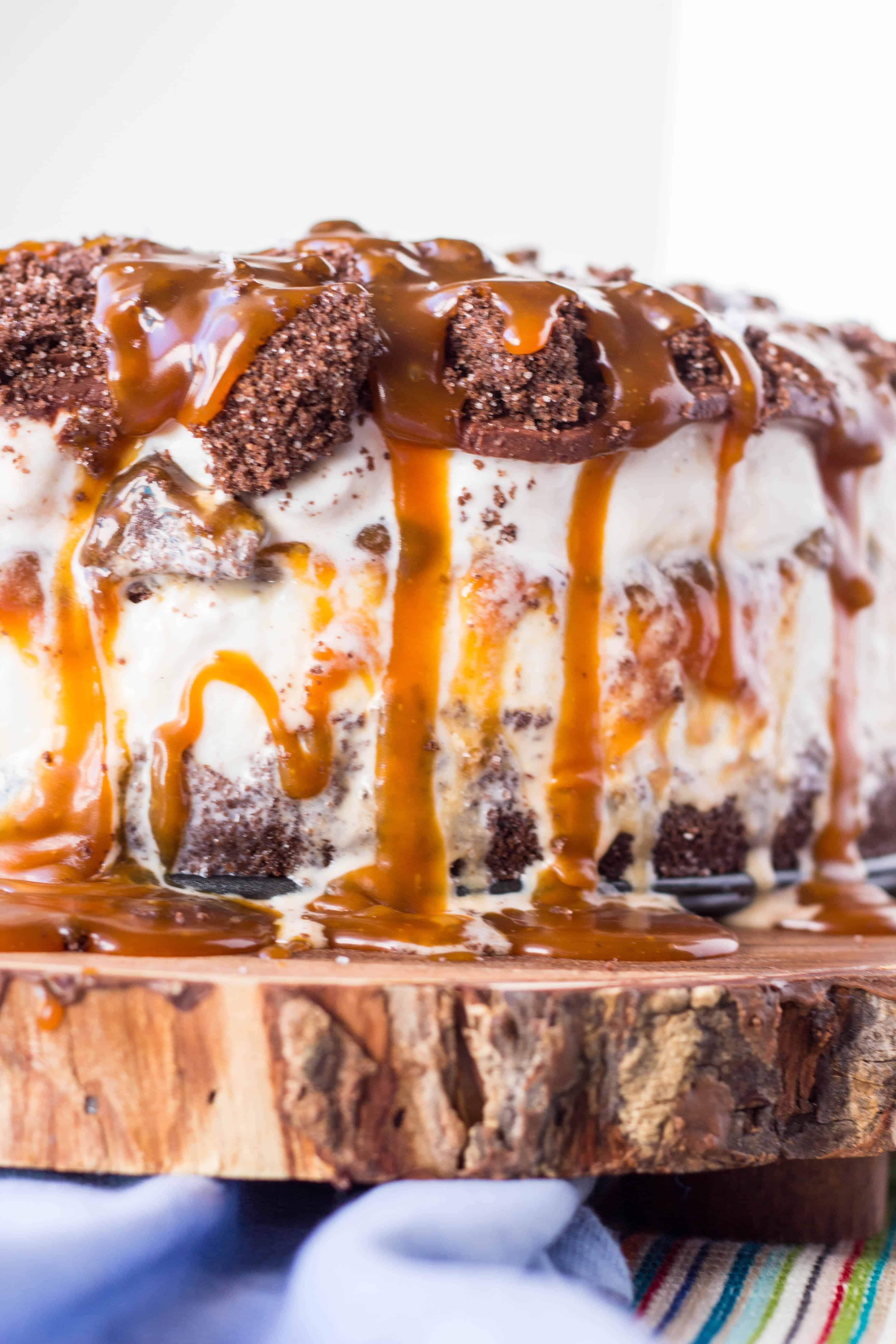 Salted Chocolate + Caramel Ice Cream Cake | Coley Cooks...