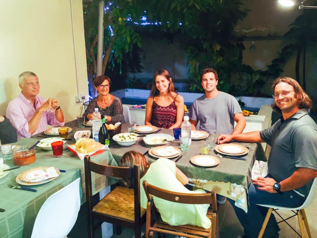 With the whole Della Casa family in Torino, Italy