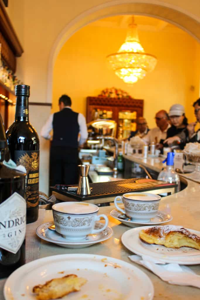 cappuccinos and pastries in Florence, Italy