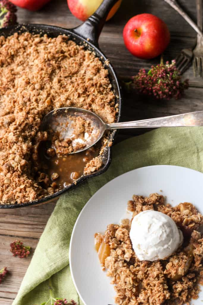 Brown Butter Apple Crisp