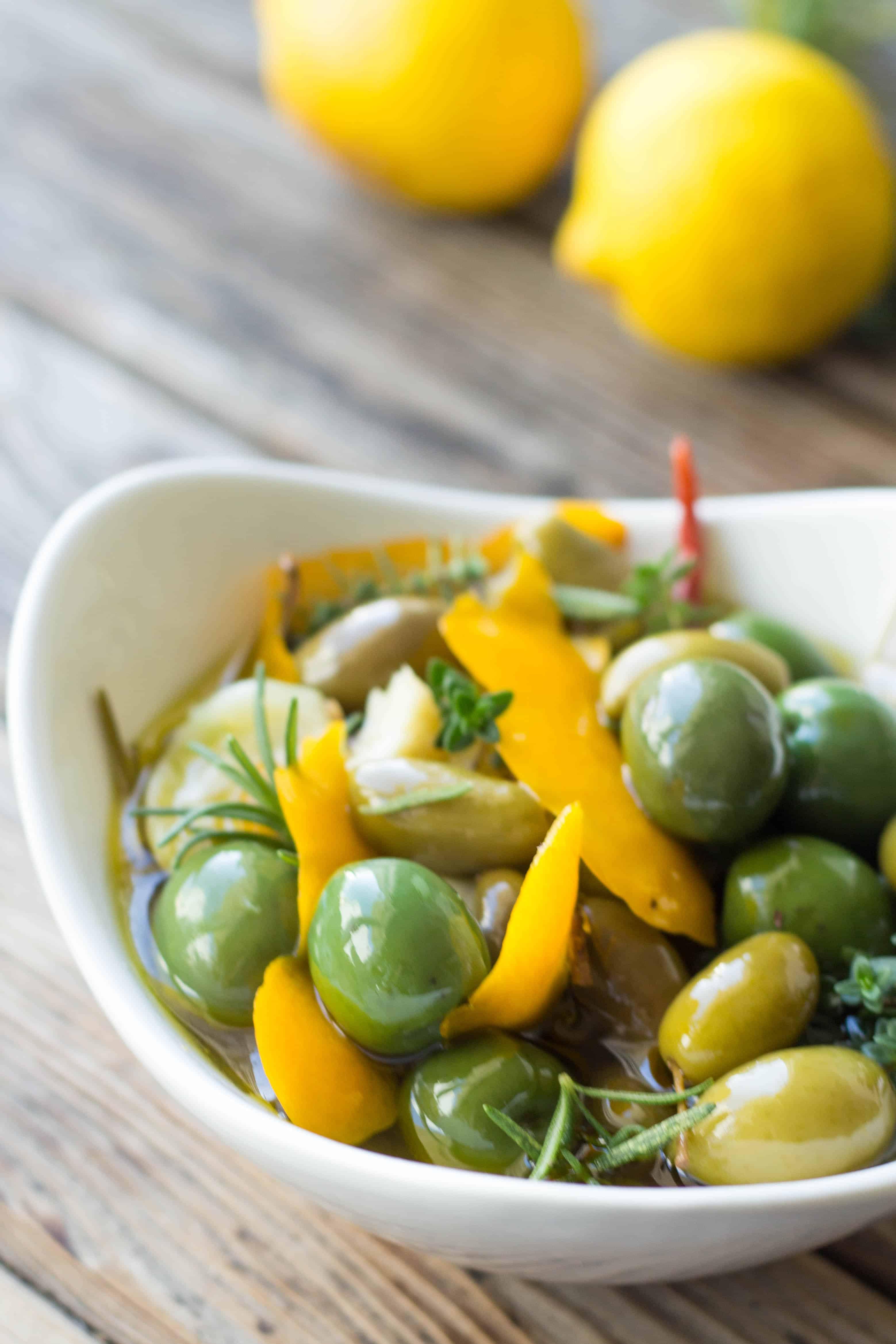 Meyer Lemon Marinated Olives