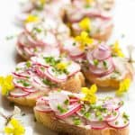 Radish Toasts with Chive Butter (Video!)