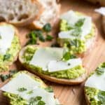 Fava Bean Crostini with Pecorino + Mint (Video!)