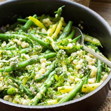 Summer Corn + Green Beans with Herb Butter (Video!)