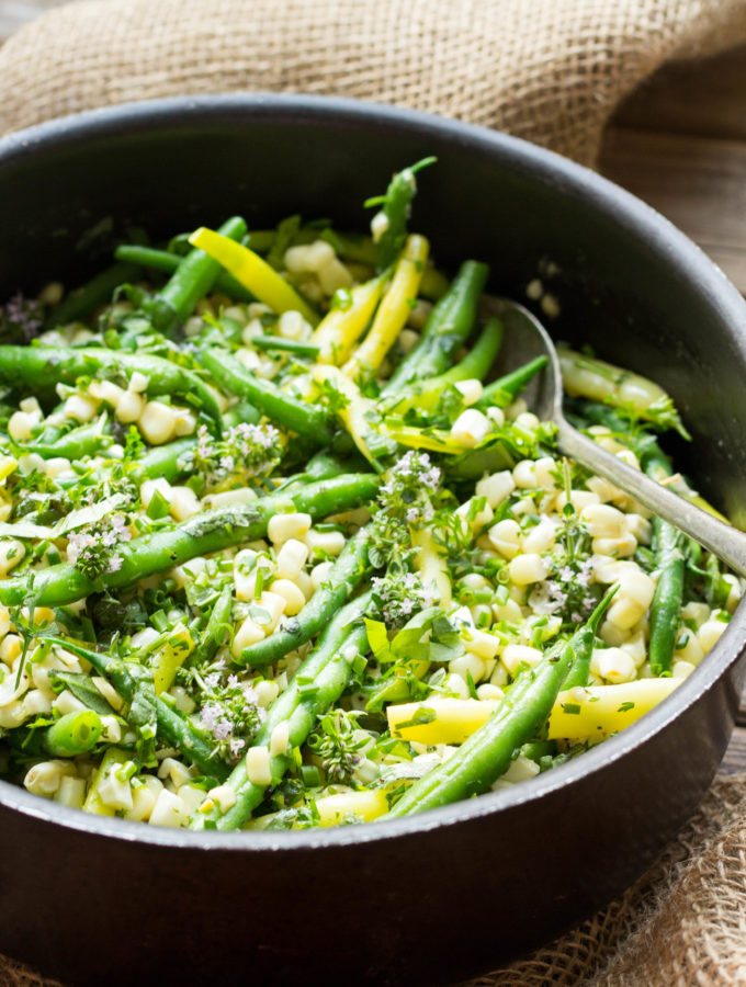 Summer Corn + Green Beans with Herb Butter (Video!)