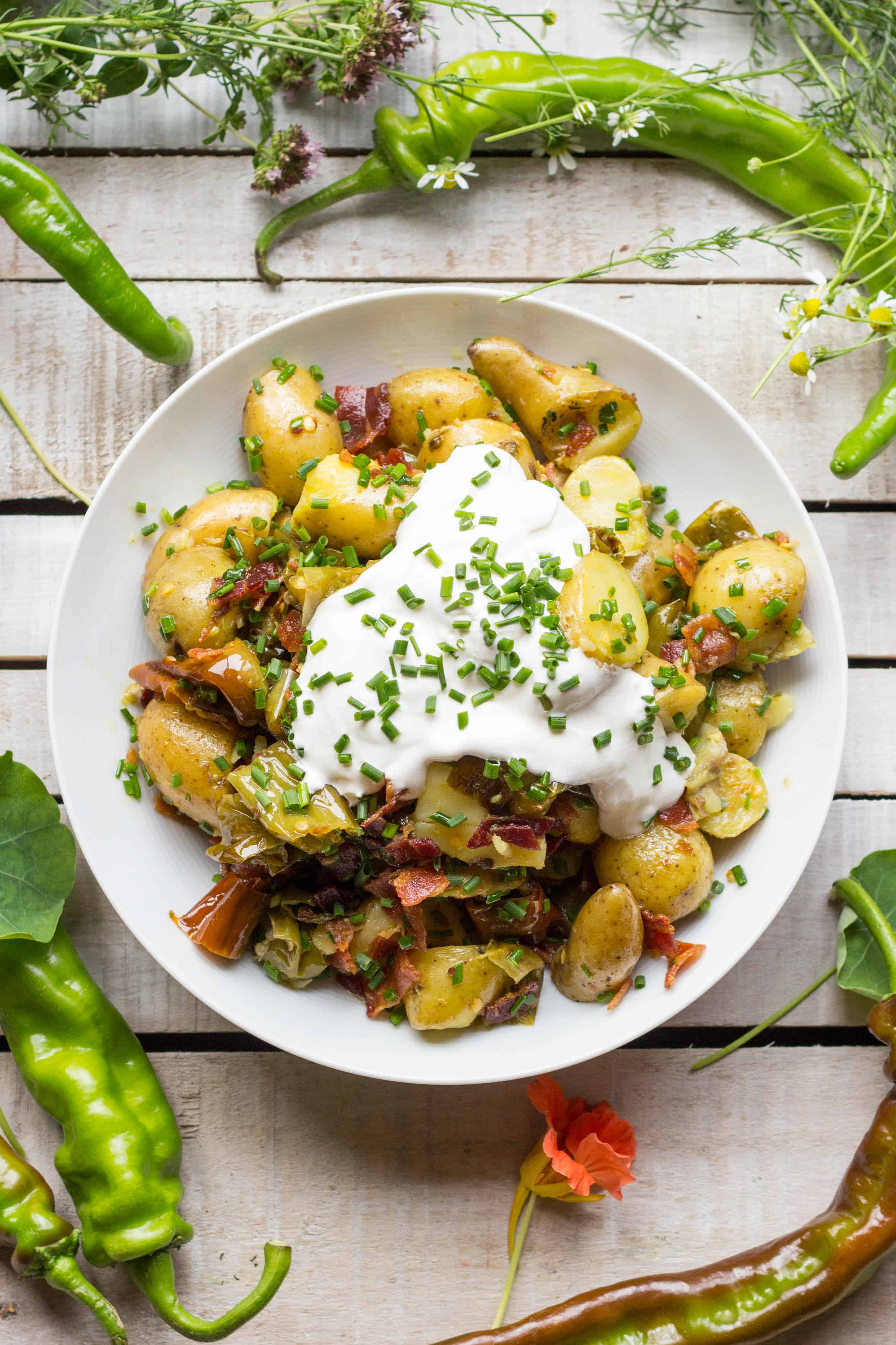 Warm Potato Salad with Bacon + Long Hots | Coley Cooks...