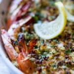 Quick, Easy, Delicious: Baked Shrimp Scampi {recipe + video) | ColeyCooks.com