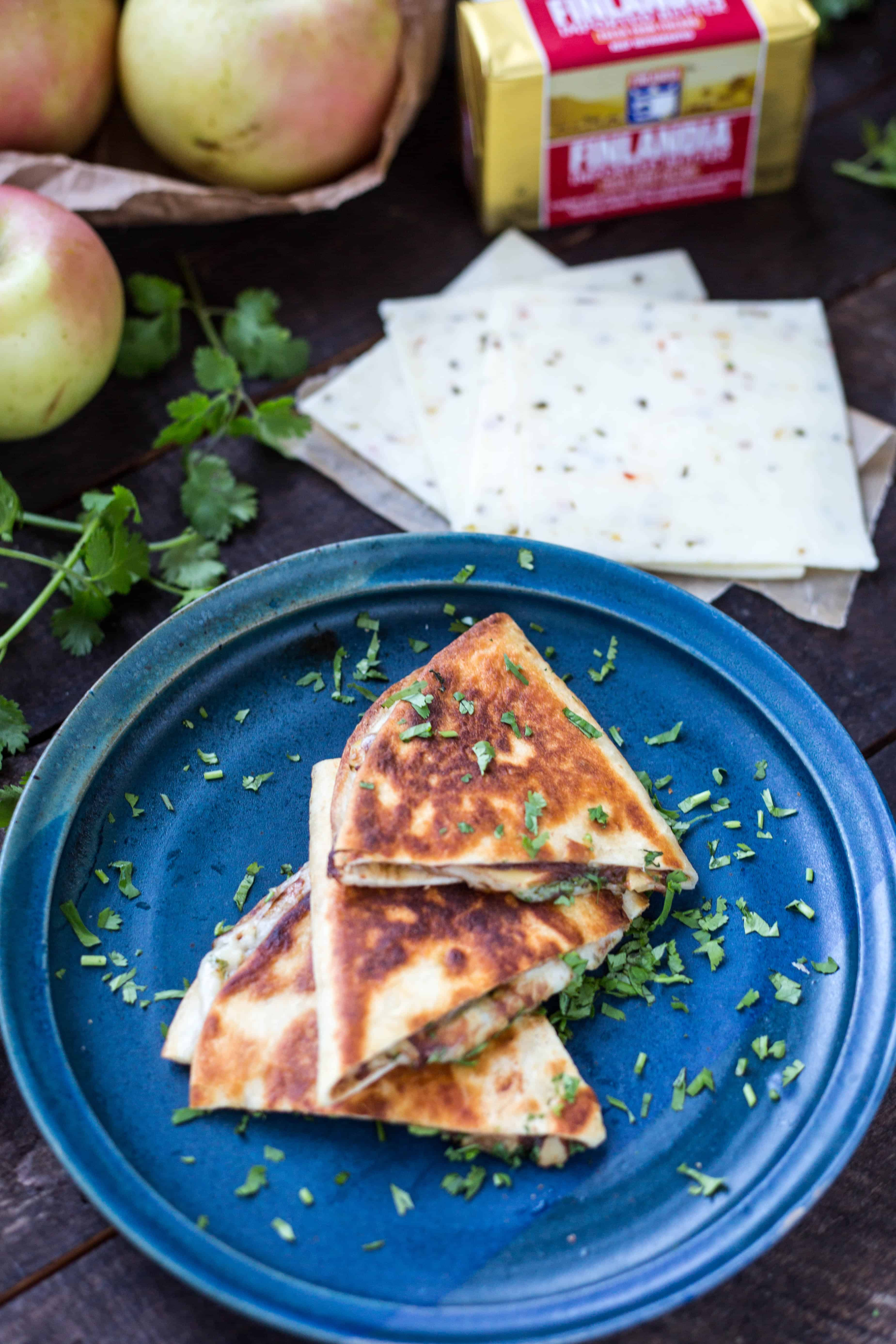 Apple Butter Quesadillas (Video!) | ColeyCooks.com