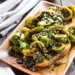 Brussels Sprouts with Anchovy Caper Butter (Video!)