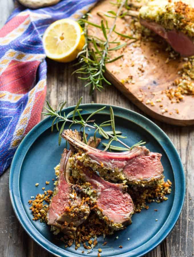 Dijon Herb Crusted Rack of Lamb