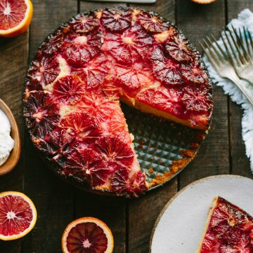 Blood Orange Almond Cake with Yogurt