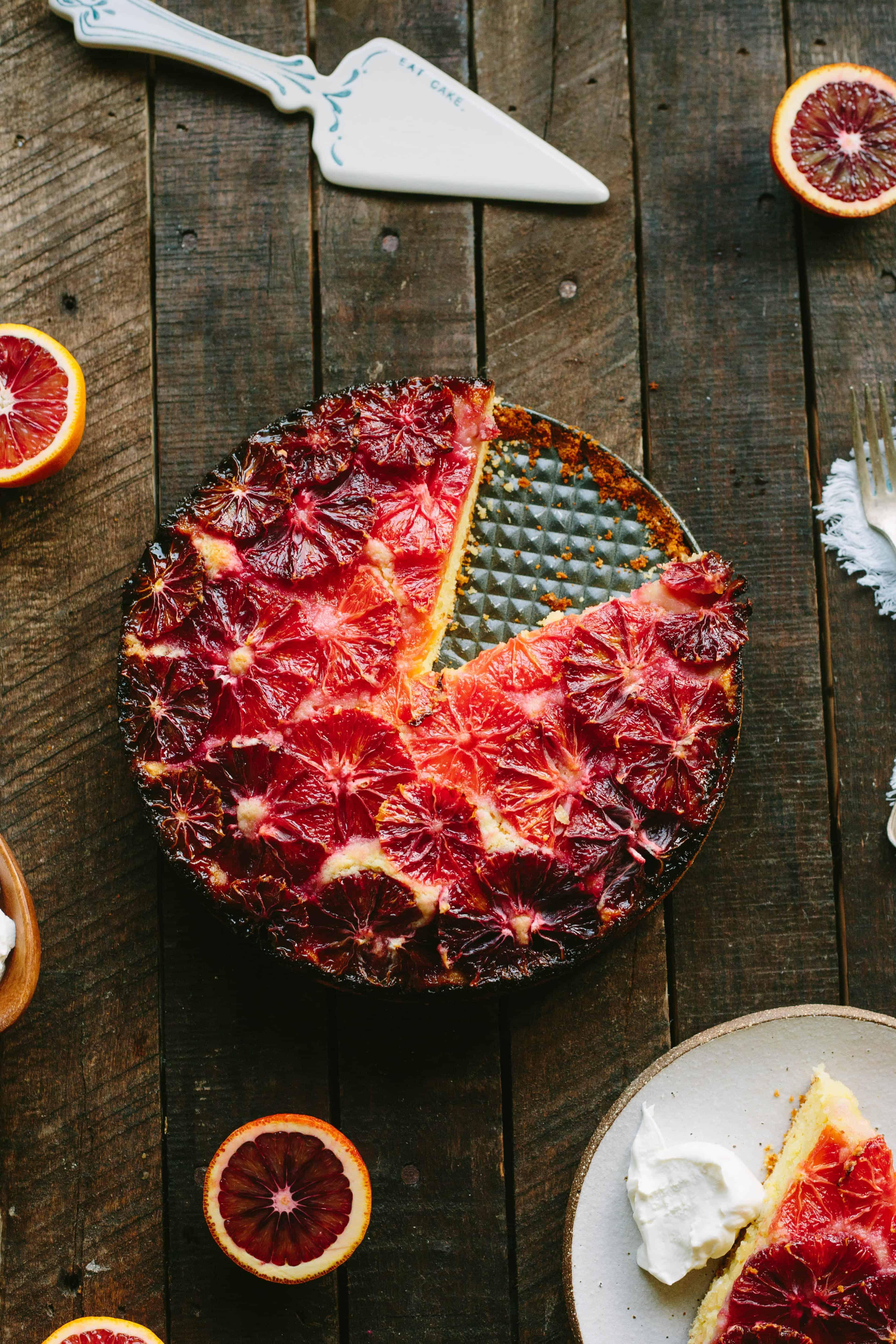 Blood Orange Almond Cake with Yogurt
