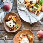 Grilled Peach Panzanella with Burrata