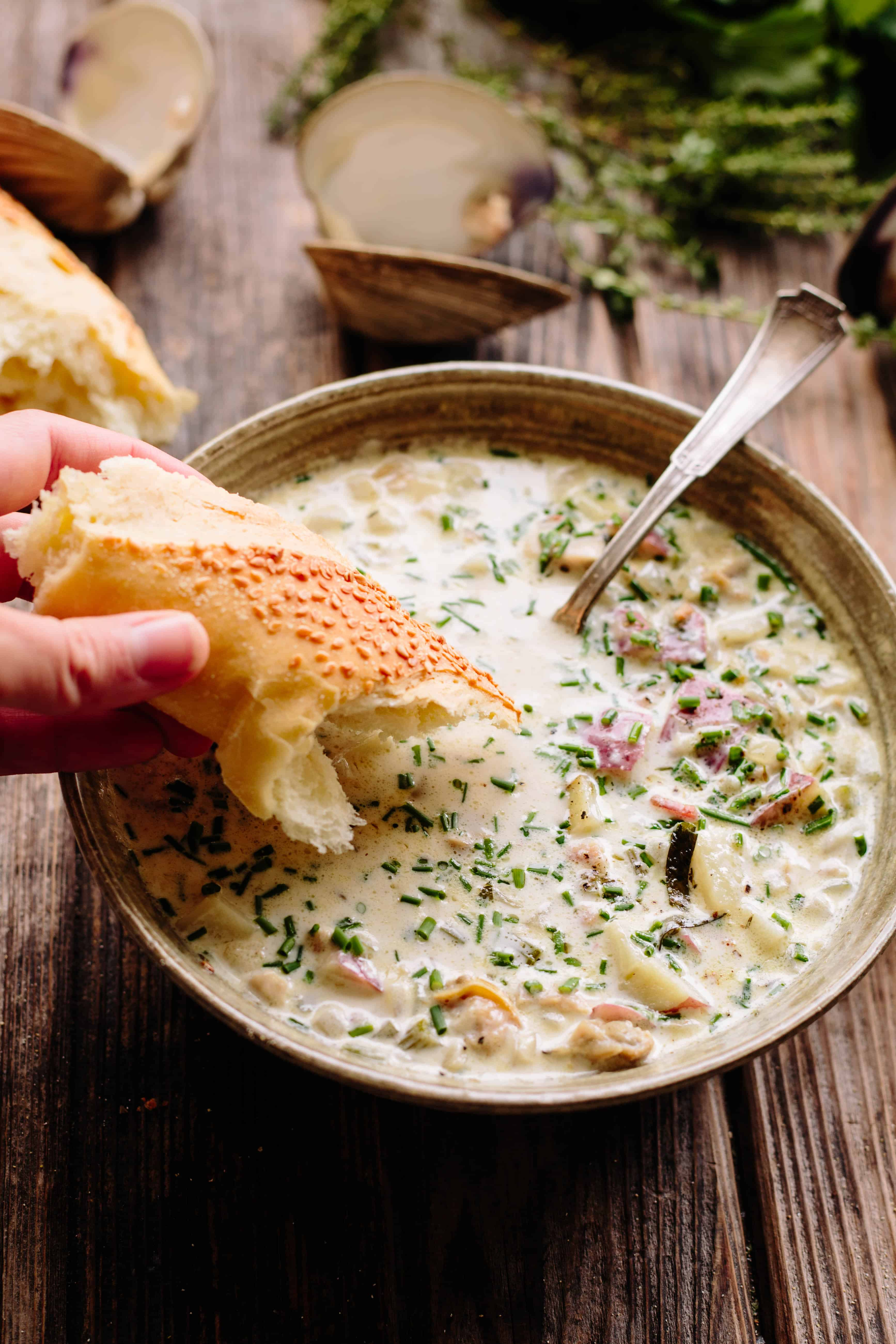 New England Clam Chowder | Simple, Classic, Delicious | ColeyCooks.com