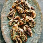 Roasted Mushroom and French Goat Cheese Crostini