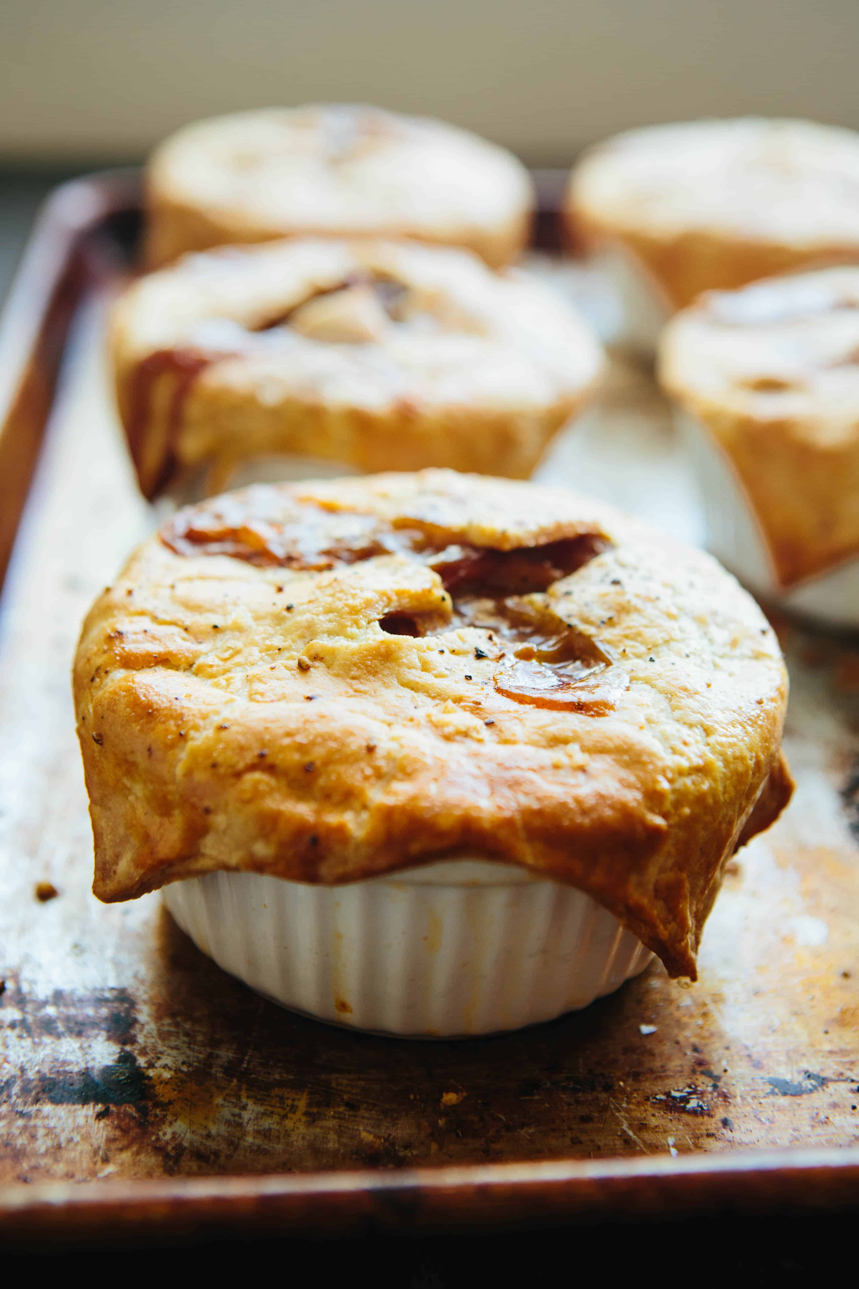 Turkey Pot Pies with Bacon, Caramelized Onions + Butternut Squash   ColeyCooks.com