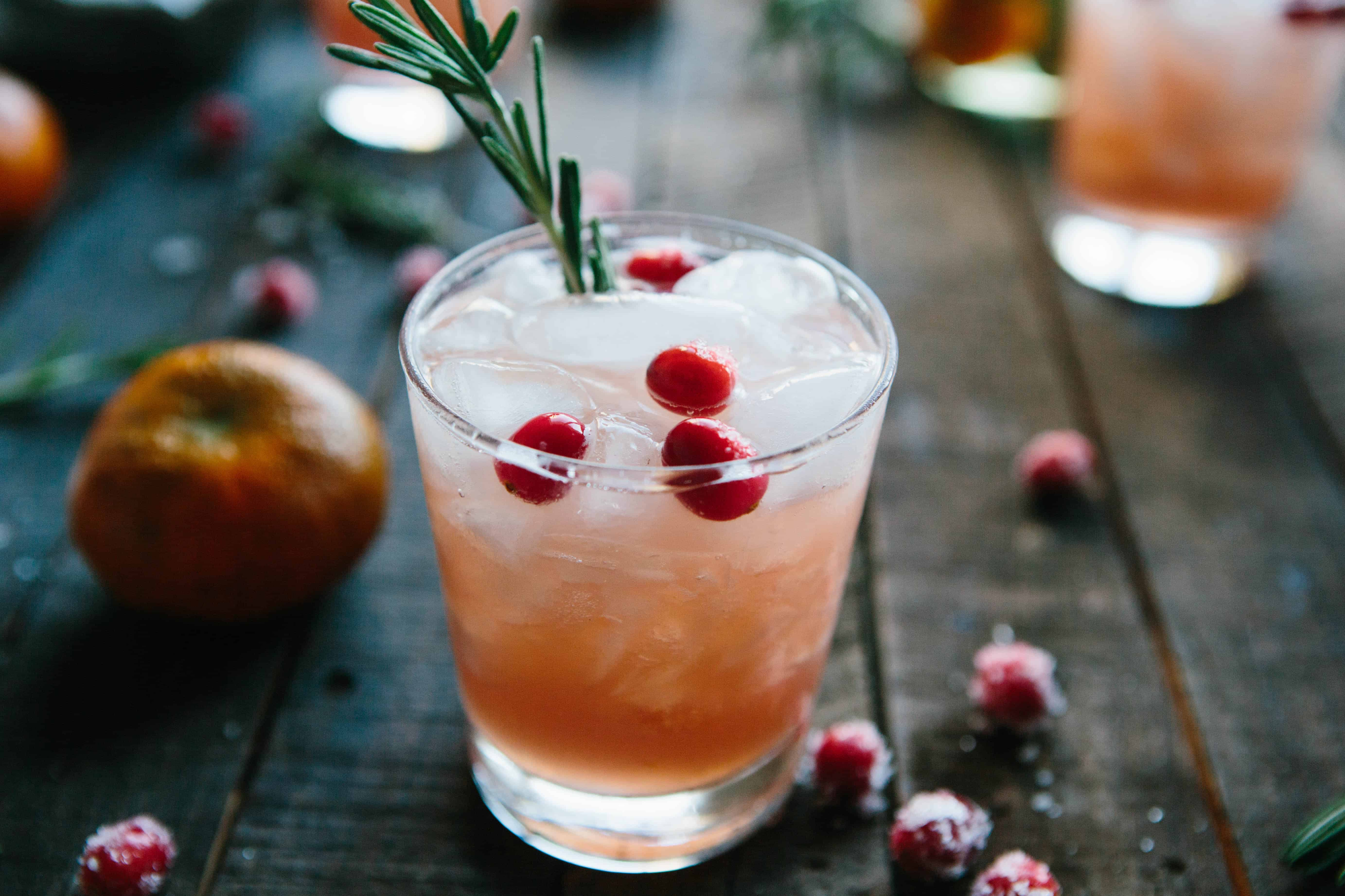 Cranberry, Clementine + Rosemary Cocktails   ColeyCooks.com