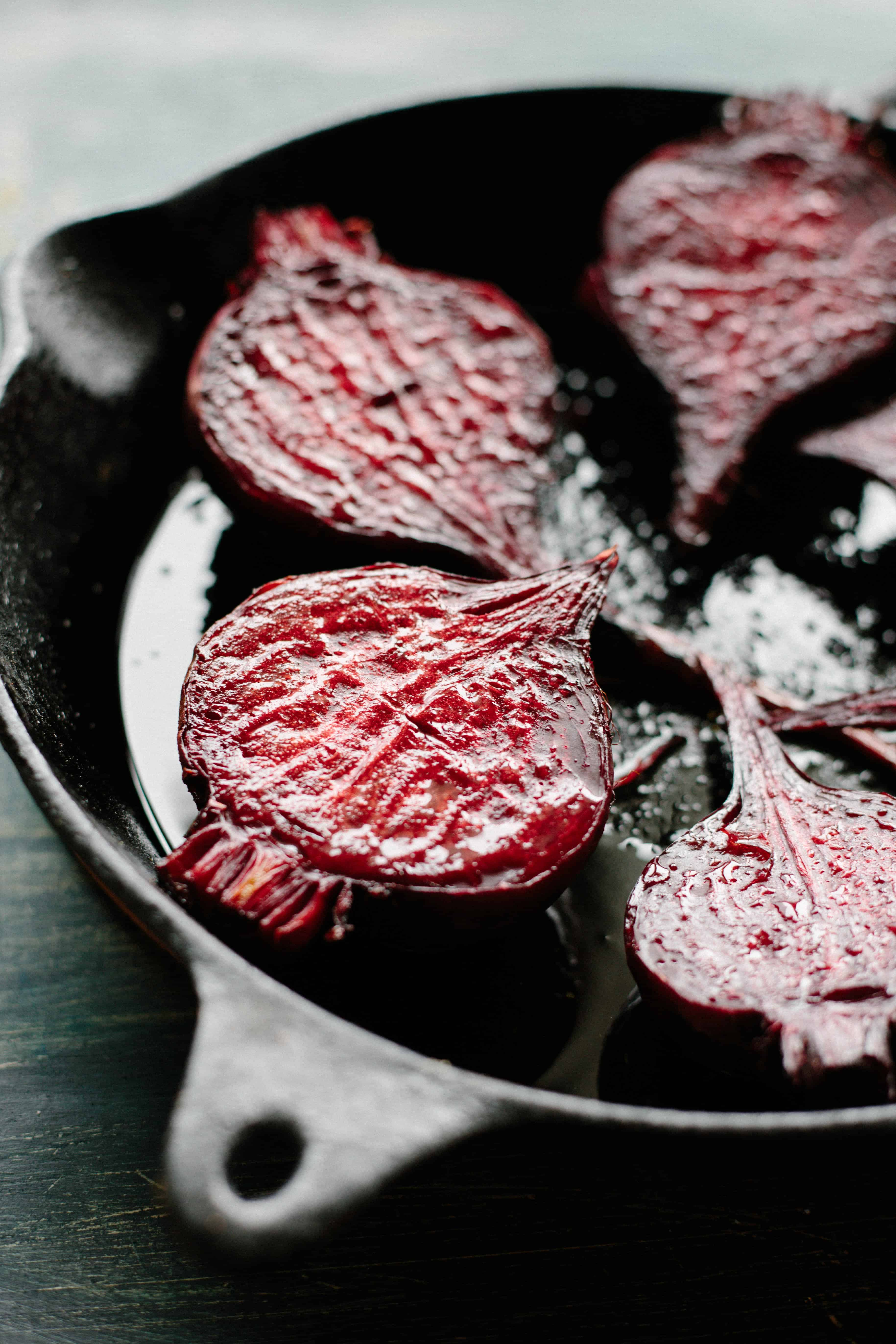 Roasted Beets with Avocado Habanero Crema