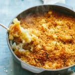 CAULIFLOWER GRATIN | Classic, easy, delicious cheesy cauliflower side dish recipe! #cheesy #recipe #cauliflower #side #gratin #augratin #vegetable #french | ColeyCooks.com