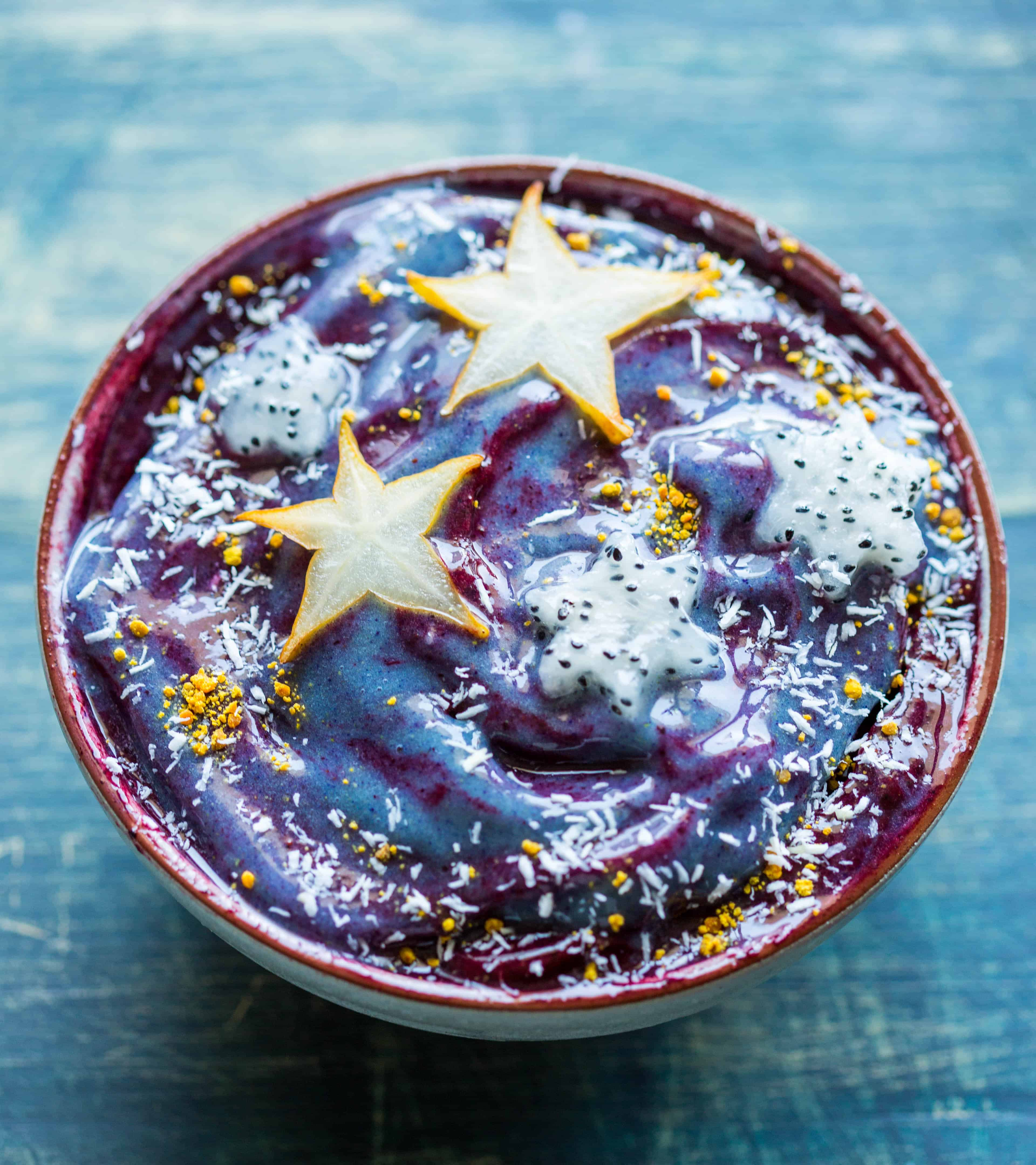 The Art of the Smoothie Bowl by Nicole Gaffney - Starry Night Galaxy Smoothie Bowl