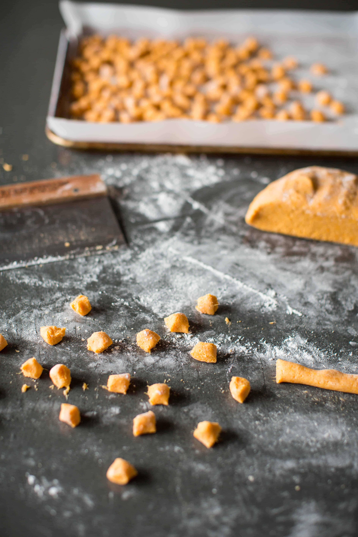 sweet potato gnocchi being made